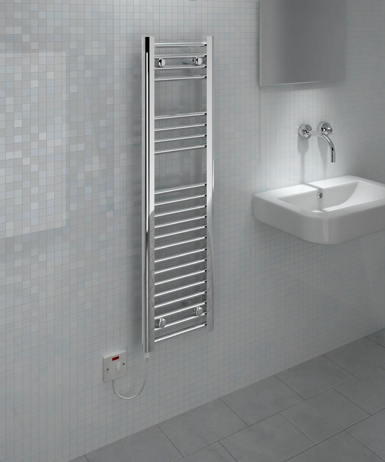 101.00 kudox electric ladder towel rail flat d standard 300mm x 1100mm chrome 2 286 p 1 3