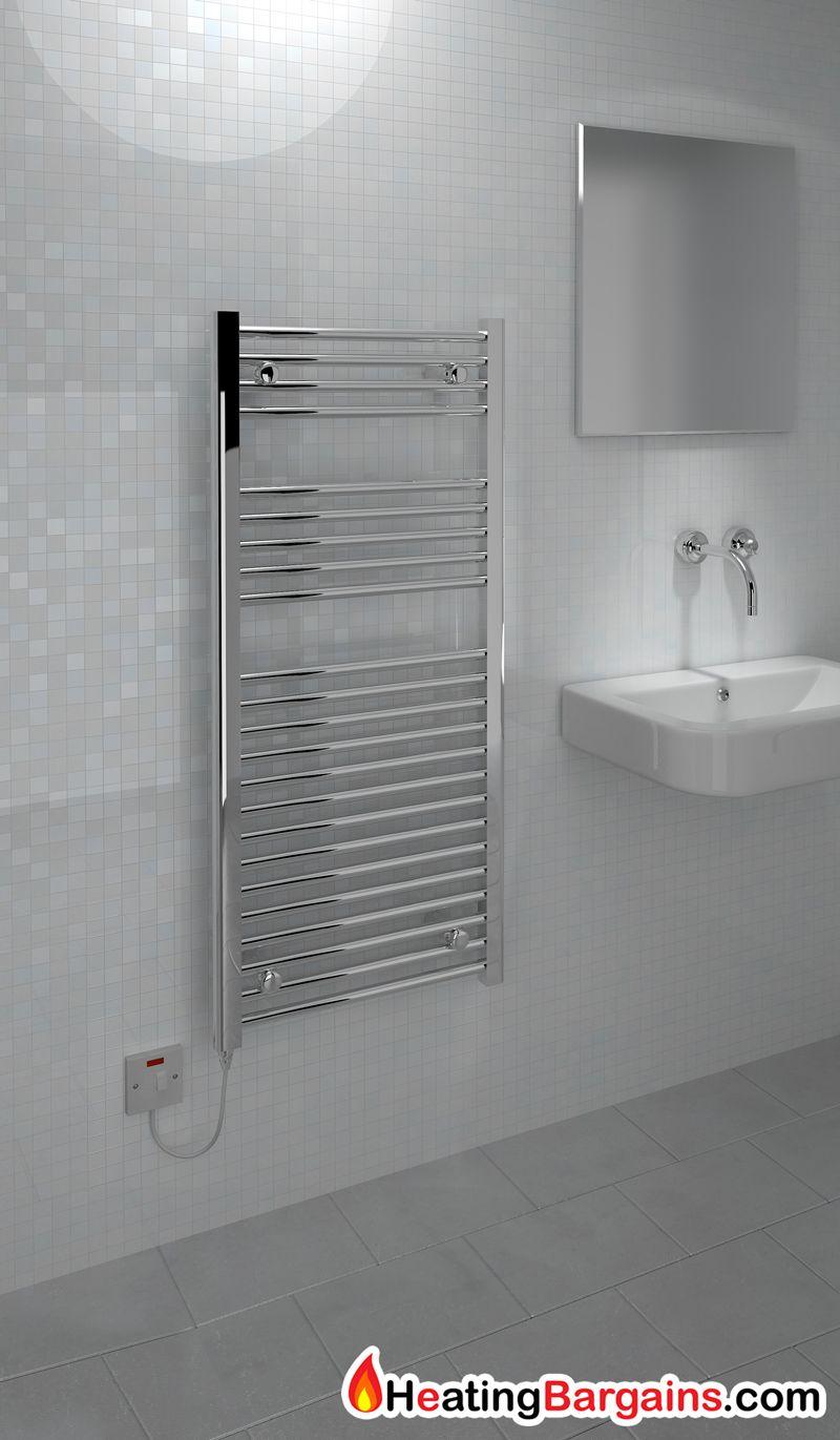 118.00 kudox electric ladder towel rail flat d standard 500mm x 1100mm chrome 2 51 p 1 3