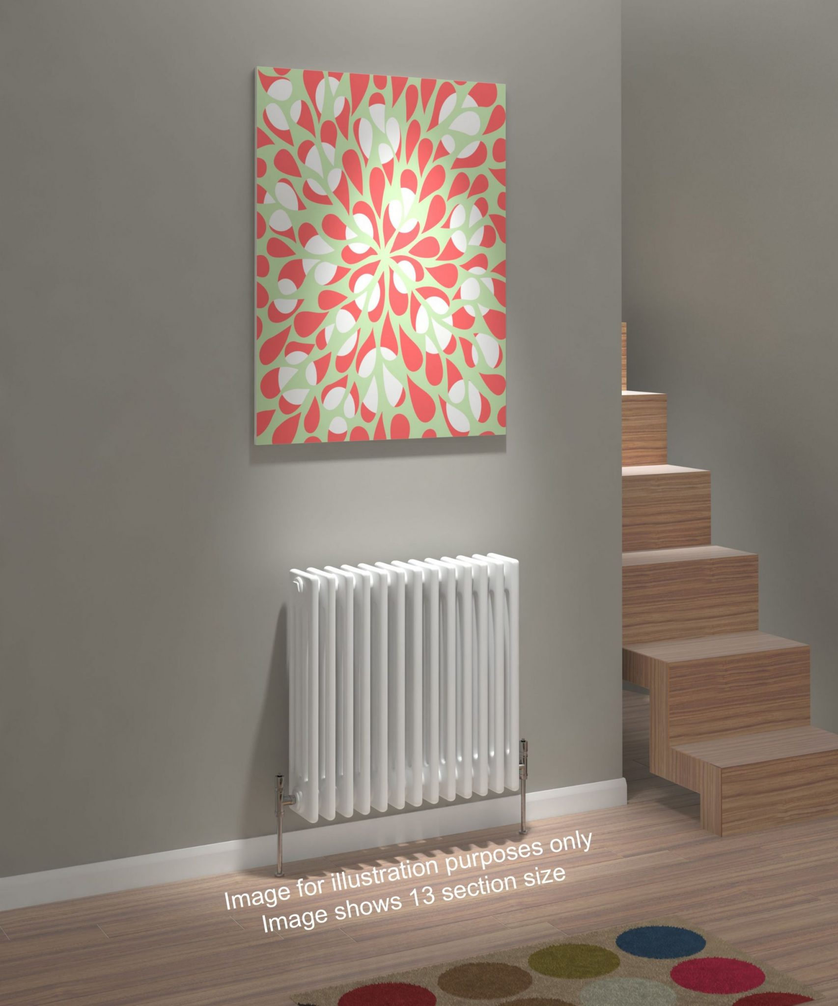 Kudox Evora Radiator 3 Column 600mm X 1042mm White