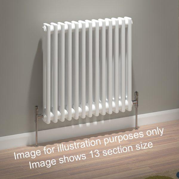 239.00 kudox evora column radiator 2 column 30 section 600mm x 1410mm white 230 p 1 3