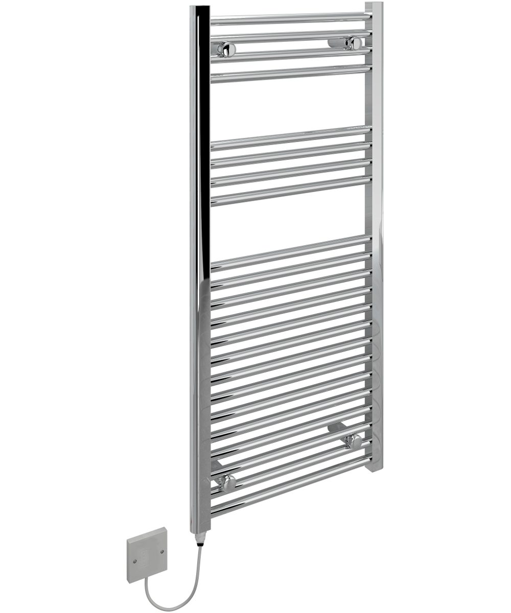 5060235340338 Kudox Electric Towel Rail Straight Standard 500mm x 1100mm Chrome IH 1