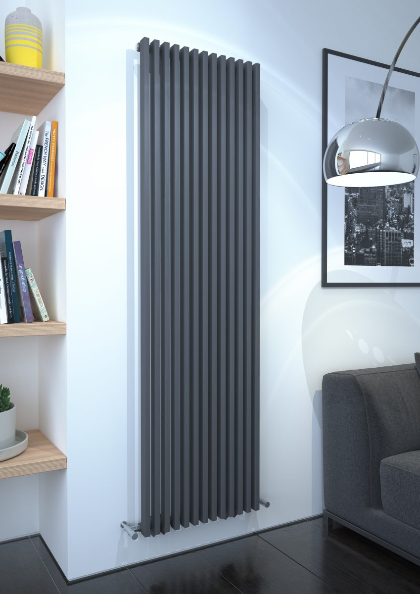 Kudox Xylo Radiator 1800mm X 500mm Anthracite Installers