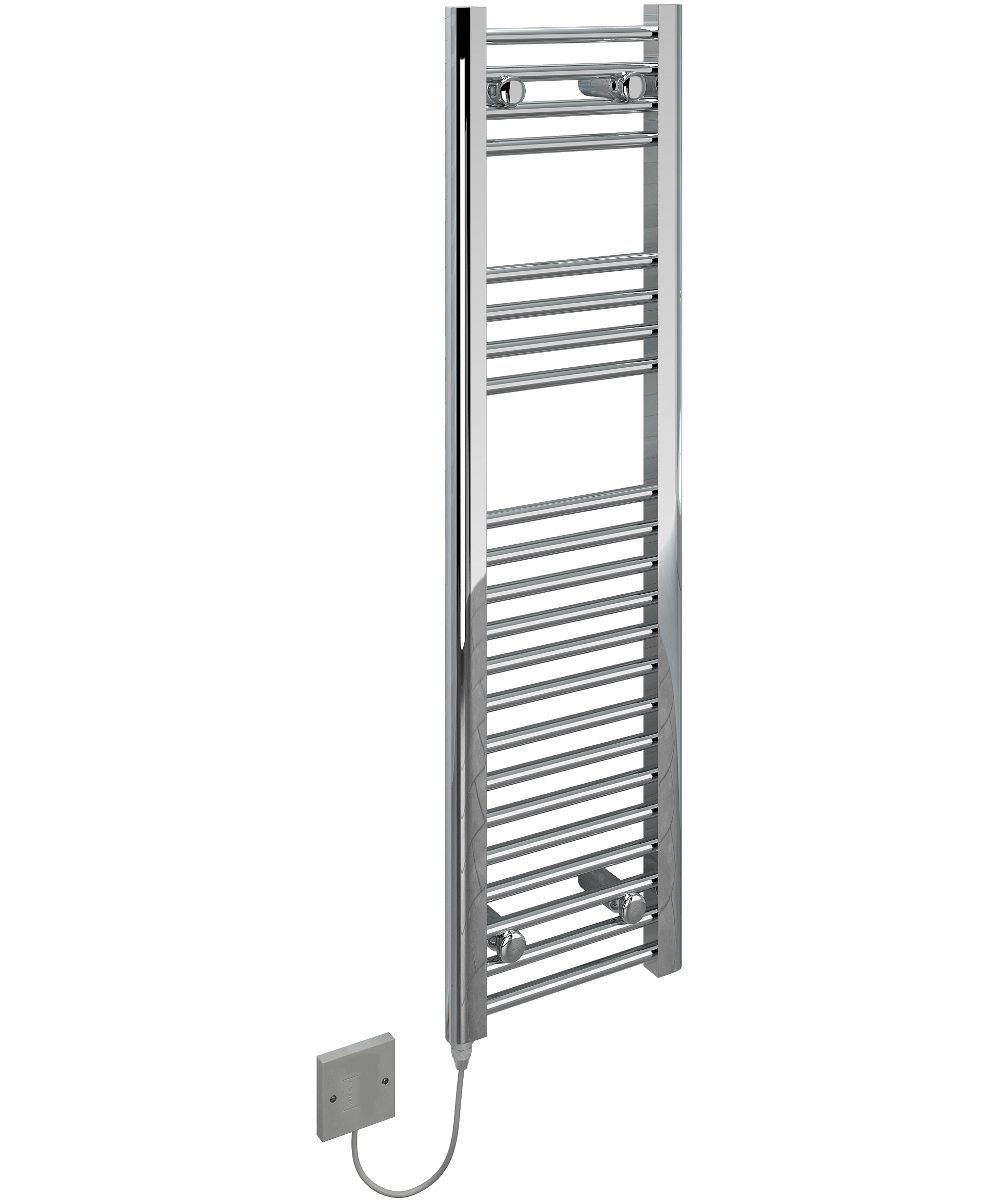 5060235346187 Kudox Electric Towel Rail Straight Standard 300mm x 1100mm Chrome IH 1