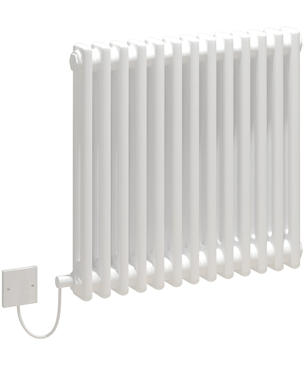 5060235346194 Kudox Electric Radiator Evora 2 Column 600mm x 628mm White IH 1