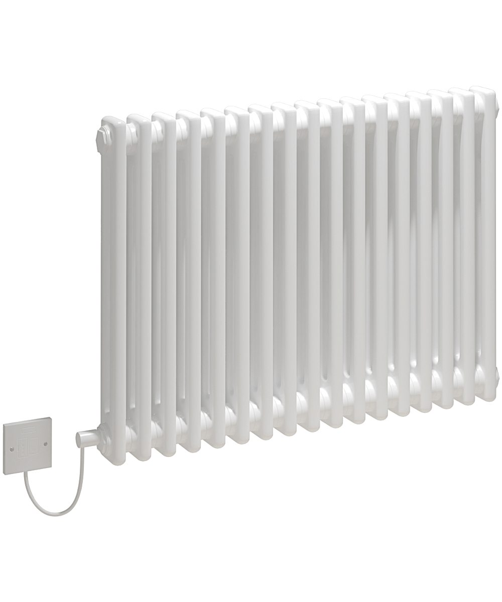 5060235346200 Kudox Electric Radiator Evora 2 Column 600mm x 812mm White IH 1