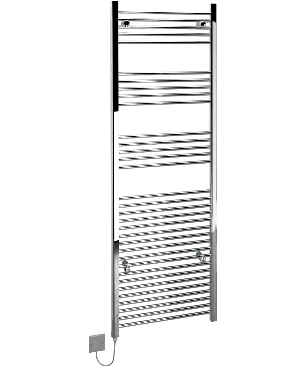 5060235346224 Kudox Electric Towel Rail Straight Standard 600mm x 1800mm Chrome IH 1