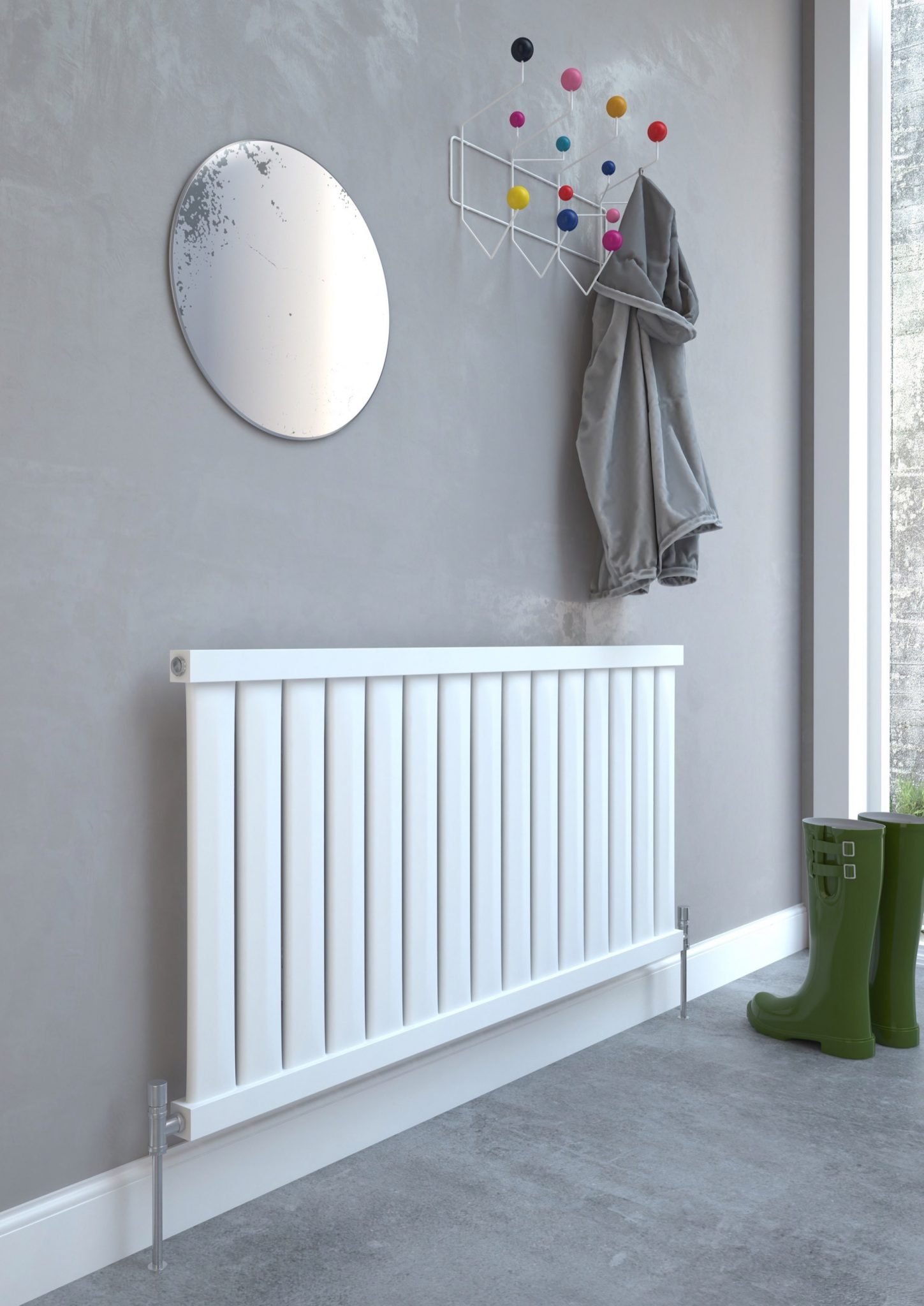 5060235347580 Kudox Elmas Radiator 600mm x 1210mm Satin White IS1