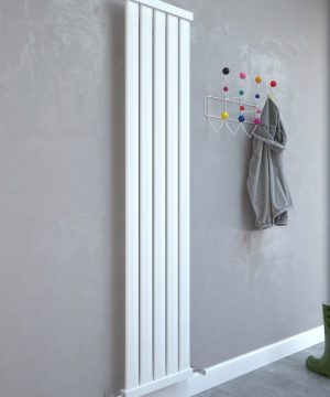 5060235348297 Kudox Elmas Radiator 1800mm x 410mm Satin White IS1
