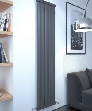 5060235348303 Kudox Elmas Radiator 1800mm x 410mm Anthracite IS1