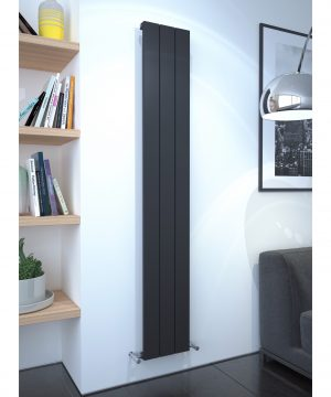 5060235348655 Kudox AluLite Flat Radiator 1800mm x 280mm Textured Black IS1 1
