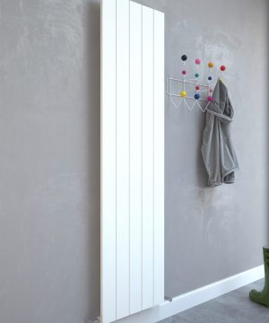 5060235348686 Kudox AluLite Flat Radiator 1800mm x 470mm Textured White IS1