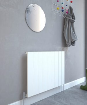 5060235348709 Kudox AluLite Flat Radiator 600mm x 850mm Textured White IS1