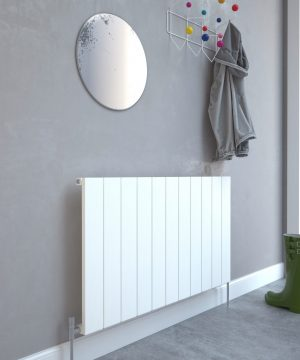 5060235348723 Kudox AluLite Flat Radiator 600mm x 1040mm Textured White IS1