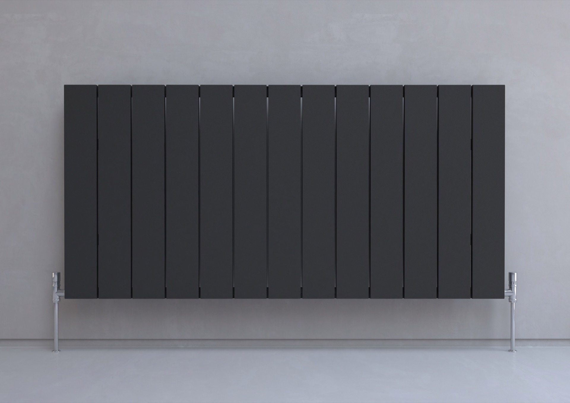 5060235348730 Kudox AluLite Flat Radiator 600mm x 1230mm Textured Black IS2