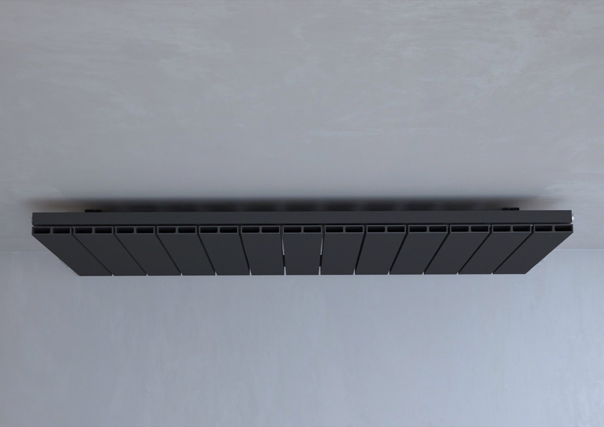 5060235348730 Kudox AluLite Flat Radiator 600mm x 1230mm Textured Black IS3