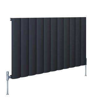 5060235348815 Kudox AluLite Arc Radiator 600mm x 1040mm Textured Black CO