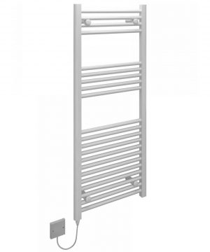 5060235349157 Kudox Electric Towel Rail Straight Standard 500mm x 1200mm White
