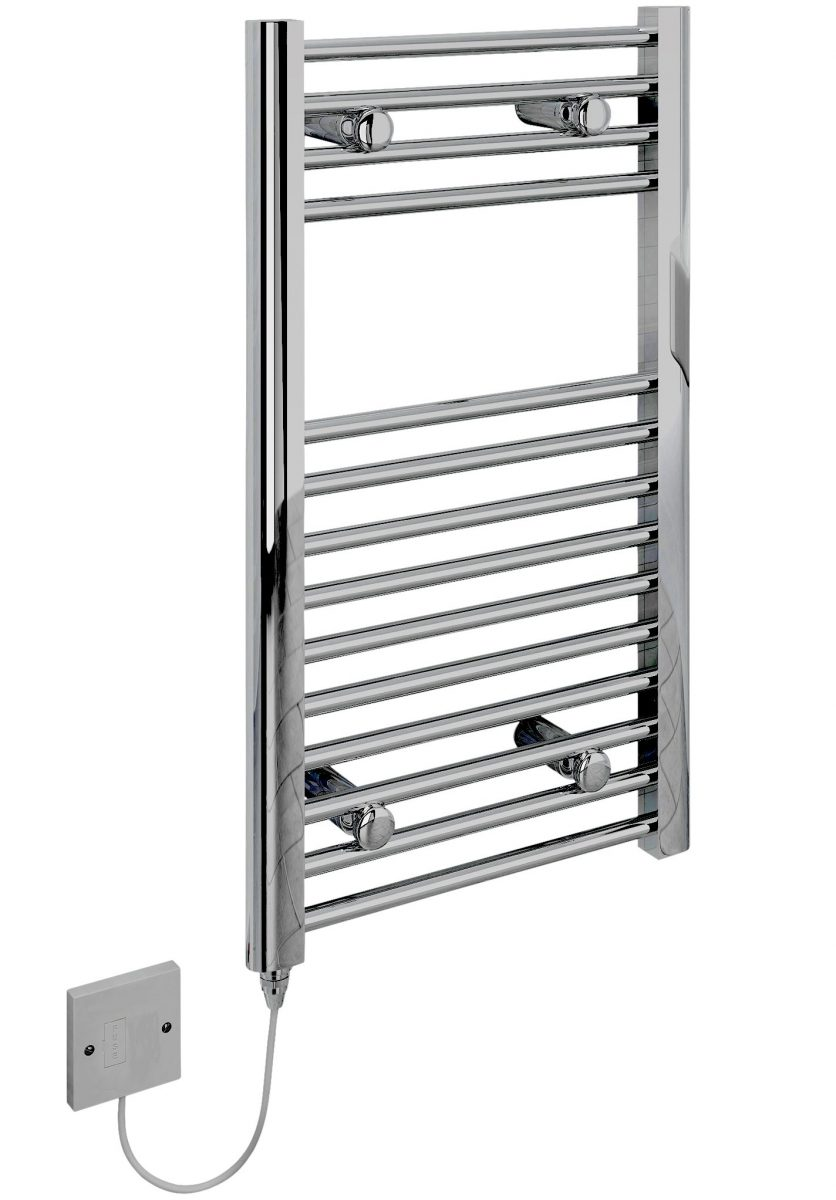 5060235349225 Kudox Electric Towel Rail Straight Standard 400mm x 700mm Chrome COCP e1493324637633