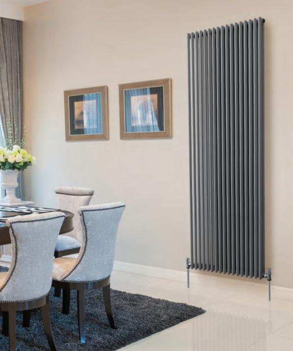 Barlo PLAZA Double Vertical Column Radiator Silver