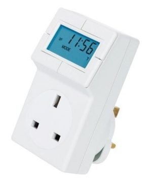 Electronic Plug in Thermostat with 24 Hour Control installers hub