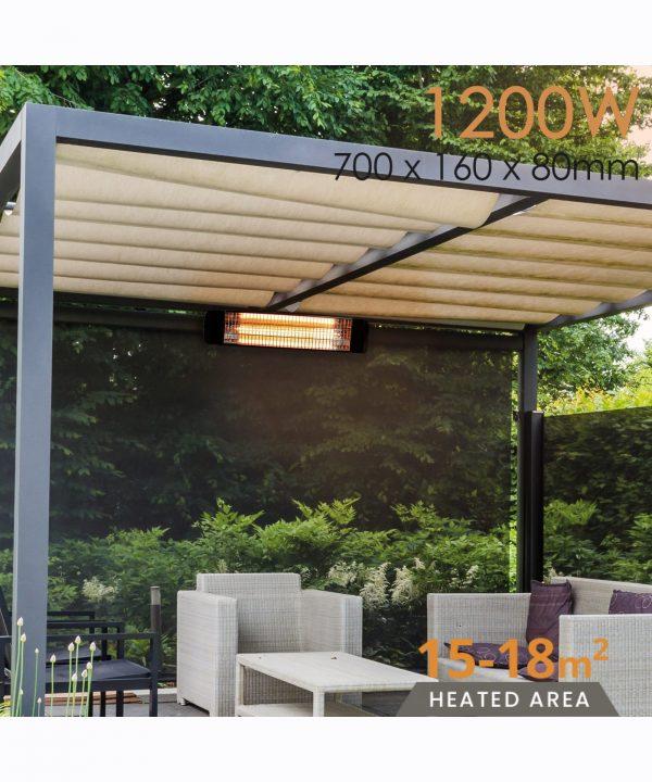 MirrorStone Aurora Infrared Patio Bar Heating outdoor