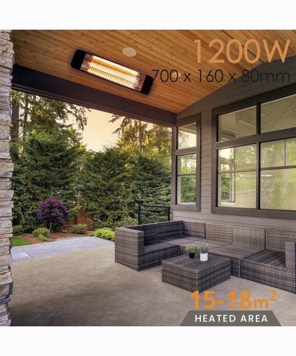 MirrorStone Aurora Infrared Patio Bar Heating outdoor p