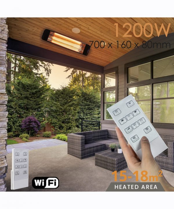 MirrorStone Aurora Remote Controllable Infrared Patio Bar Heating outdoor
