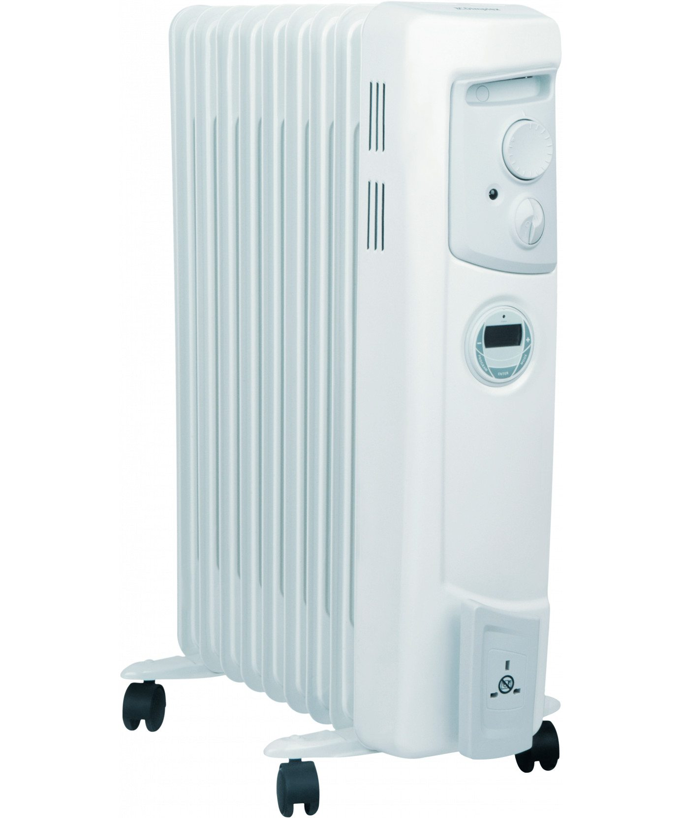 Oil Filled Radiators 2 kW Electric Oil Filled Column Radiator with Timer OFC2000TI 0 0