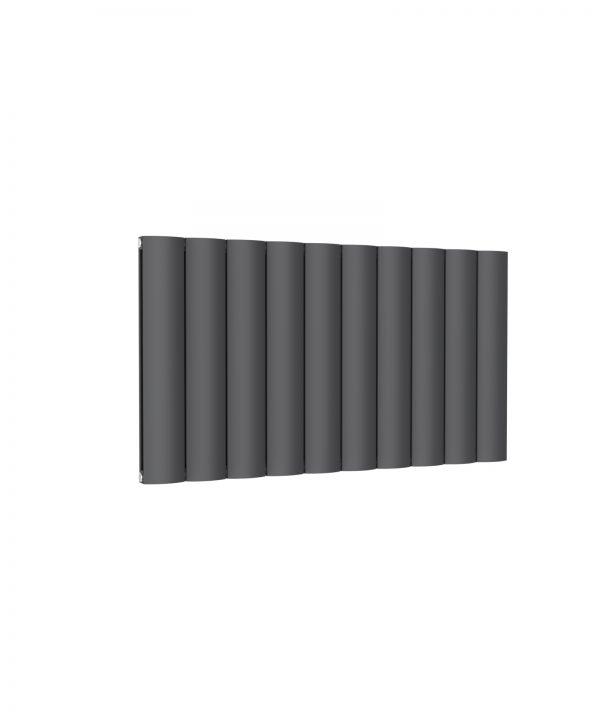 Reina BELVA Aluminium Horizontal Double Designer Radiator ANTHRACITE 600X1036