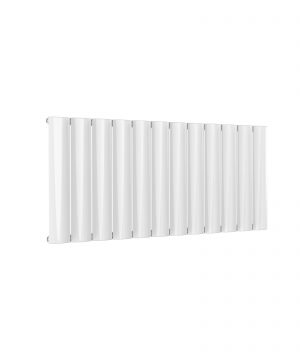 Reina BELVA Aluminium Horizontal Single Designer Radiator WHITE 600X1244