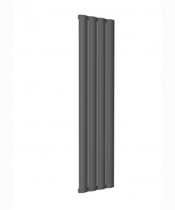Reina BELVA Aluminium Vertical Single Designer Radiator ANTHRACITE 1800X412