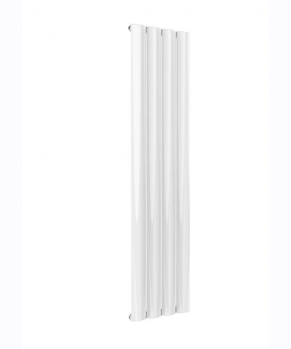 Reina BELVA Aluminium Vertical Single Designer Radiator WHITE 1800X412
