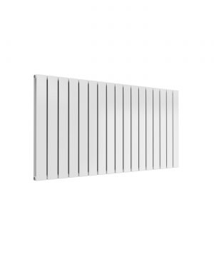 Reina FLAT HORIZONTAL Steel Double Designer Radiator WHITE 600X1254
