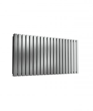 Reina FLOX Stainless Steel Horizontal Designer Radiator SATIN 600X1180 DOUBLE.8