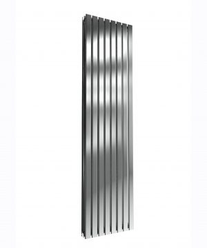 Reina FLOX Stainless Steel Vertical Designer Radiator POLISHED 1800X472 DOUBLE