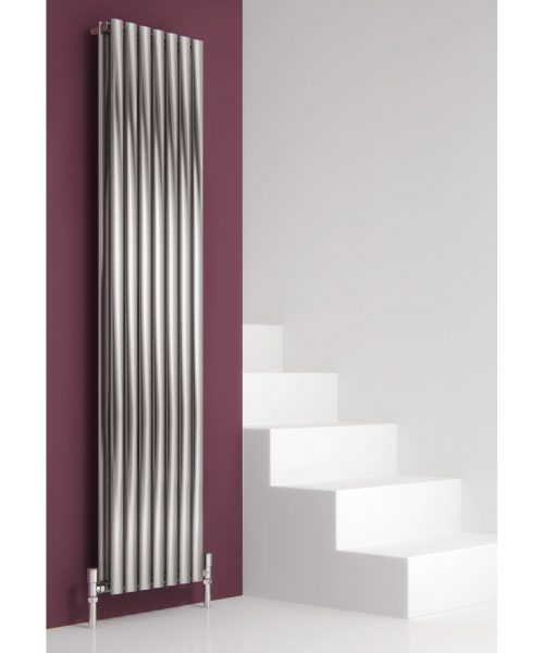 Reina NEROX Stainless Steel Vertical double Designer Radiator brushed 1