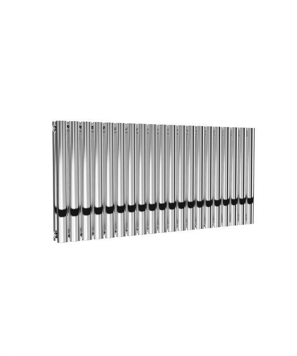 Reina NEVAL Aluminium Horizontal Designer Radiator CHROME DOUBLE 600X1171