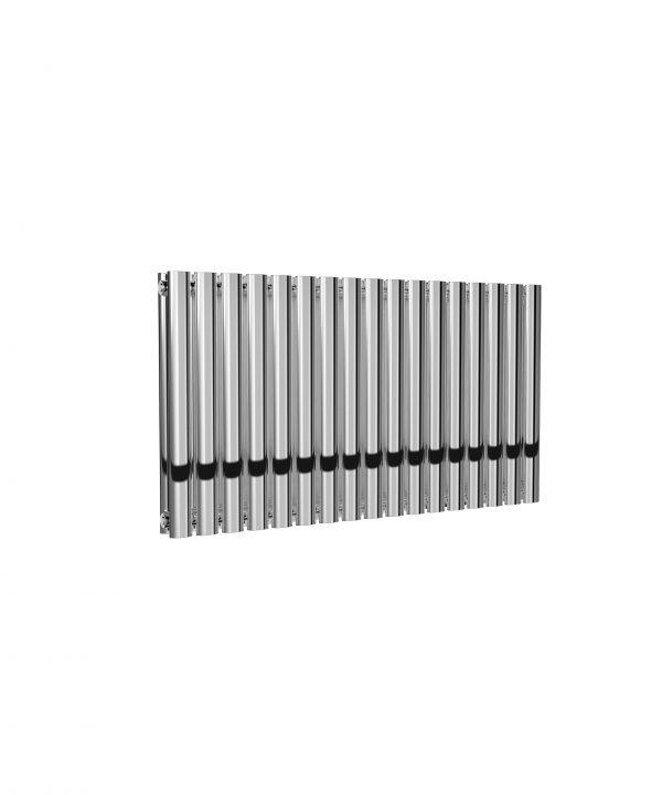 Reina NEVAL Aluminium Horizontal Designer Radiator CHROME DOUBLE 600X994