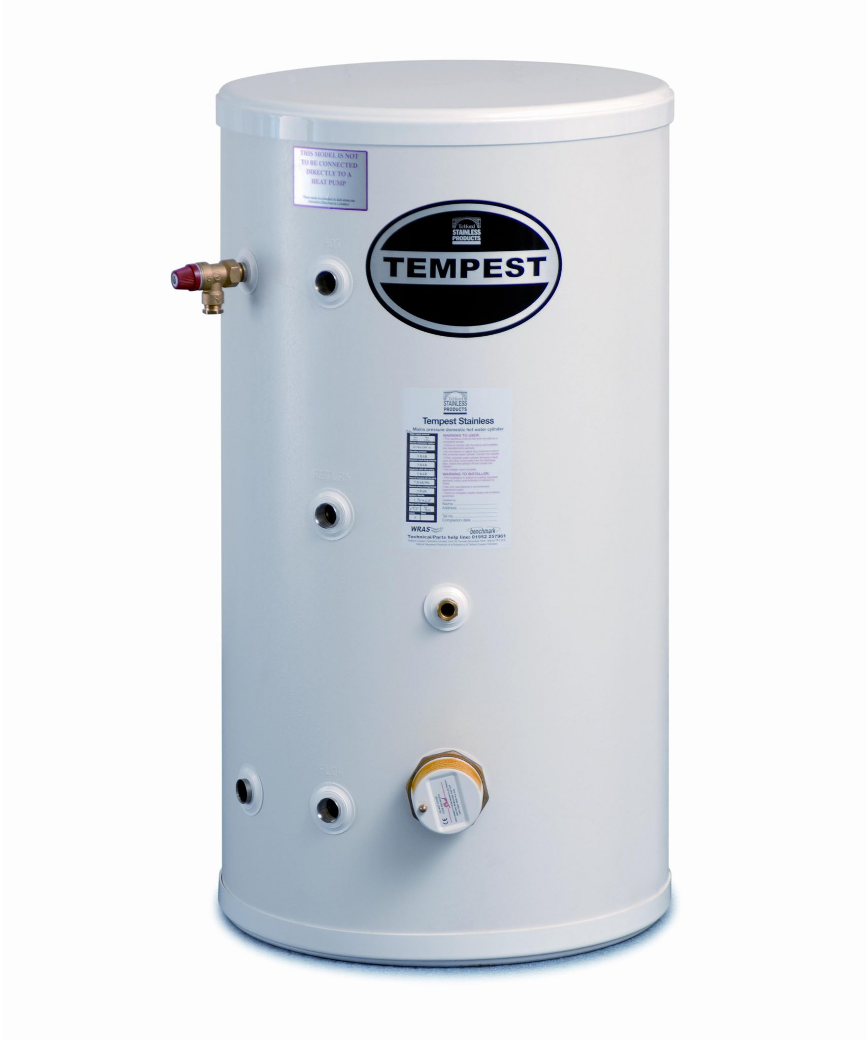 Telford Tempest Unvented Cylinder Direct - Installers Hub Online Shop