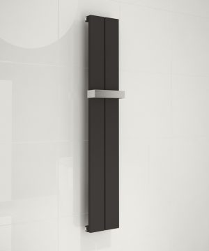 kudox alulite Black towel rail radiator chrome towel bar