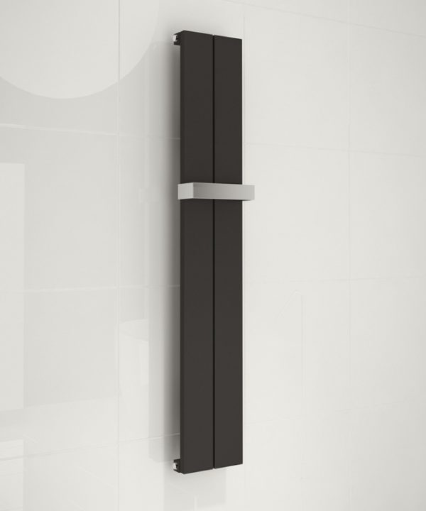 kudox alulite Black towel rail radiator chrome towel bar